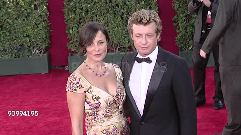 Simon Baker r and guest at the 61st Annual Primetime Emmy Awards Arrivals Part 4 at Los Angeles CA Footage by WireImage Vi