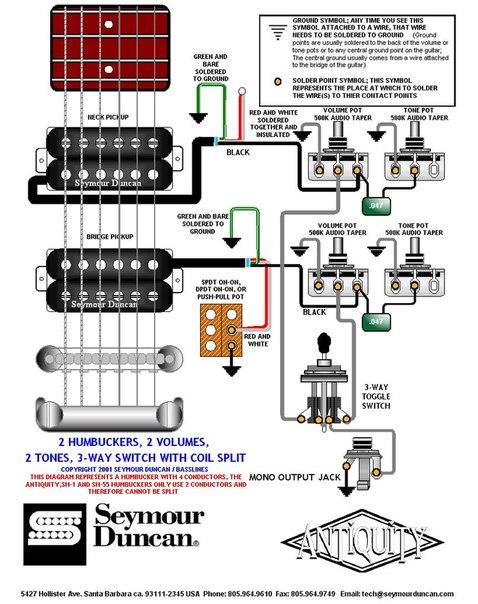 электрические схемы гитар