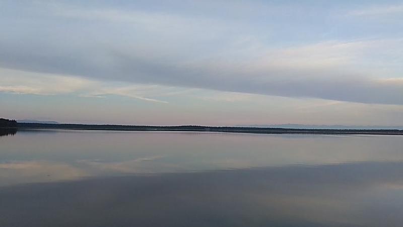 Прекрасный вечер на Слюдянских озерах