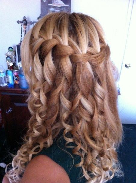 Красивые косы на средние волосы - 77730