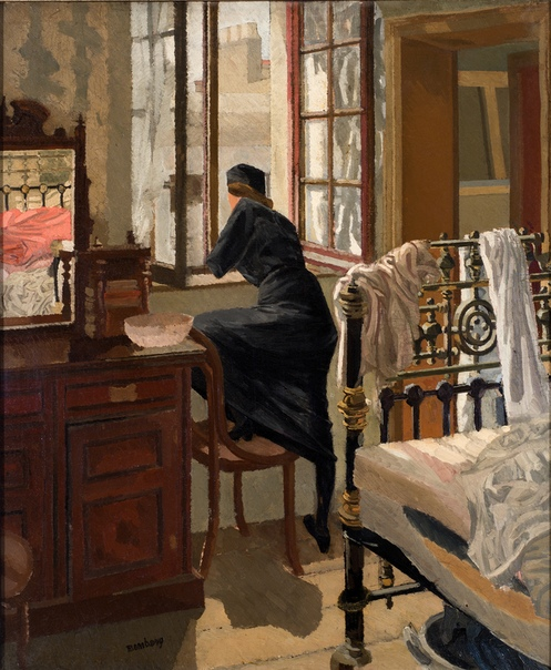 David Bomberg: Woman Looking Through a Window, 1912 At the Window, 1919