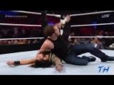WWE Dean Ambrose vs Roman Reigns vs Seth Rollins