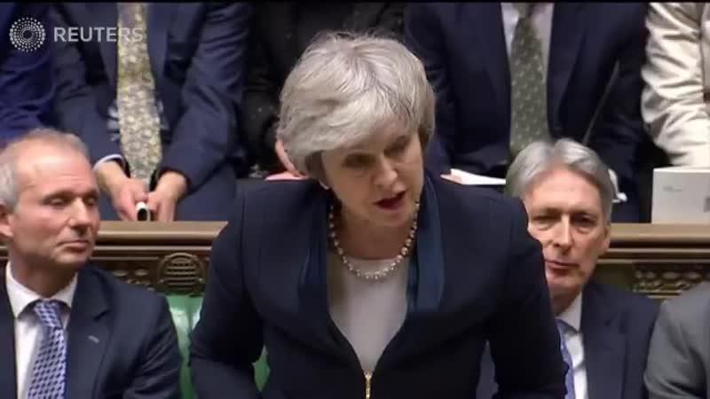 Как парламент UK отклонял предложение Терезы Мэй по Brexit.