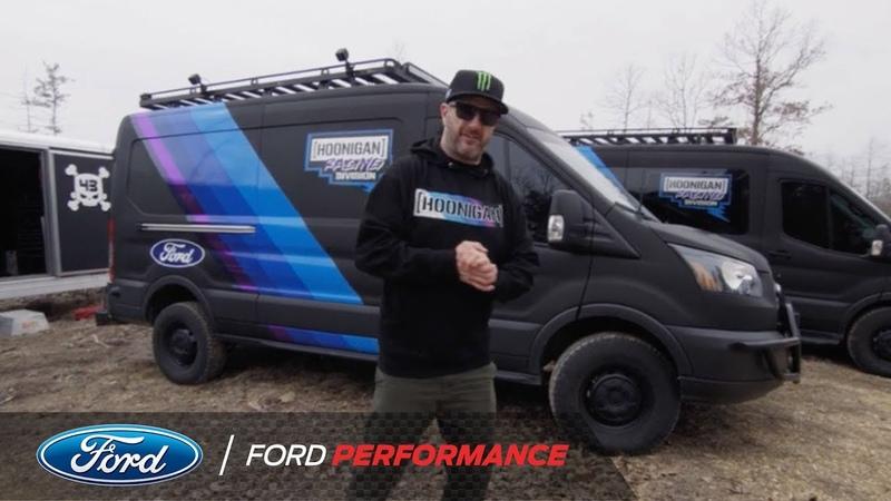 Ken Blocks Rally Service Ford Transit Vans   Ford Performance