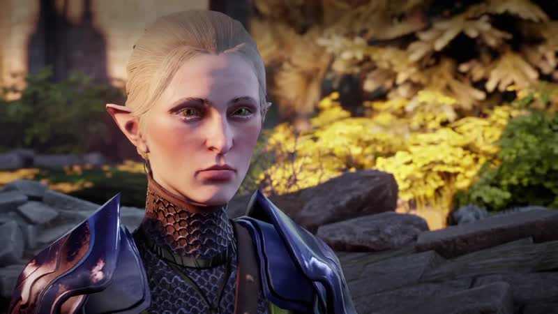 Dragon Age Инквизиция Лавелланка и Солас Концовка DLC Чужак