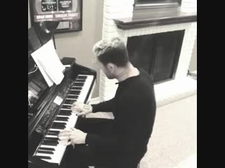 Danny's playing the piano
