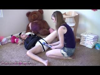 Diaper Bondage + Punishment