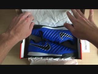 Распаковка заказа (Футзалки Nike Tiempo Legend VII Academy IC (КОЖА) AH7244-400)