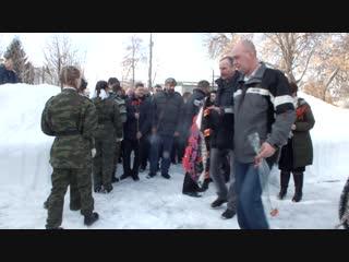 Возложение венков у памятника воинам-интернационалистам
