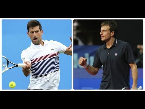 Novak Djokovic vs Mirza Basic HIGHLIGHTS CANADA 2018 R1