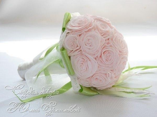 Букет невесты из гофрированной бумаги