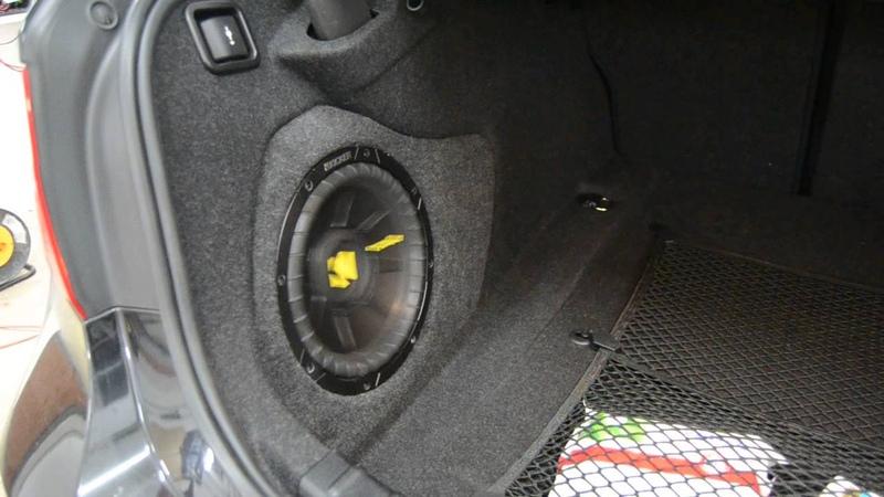 Сабвуфер в BMW 320 F30 - часть вторая