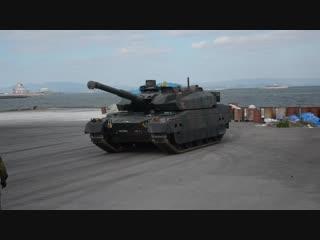 10式戦車をトレーラに載せる ‐Tank Transporter