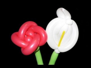 Balloon Flowers Balloon Animal Tutorial - Rose and Calla Lily (Balloon Twisting & Modeling #13)