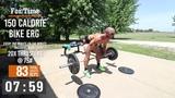 Jacob Heppner Full Crossfit Workout - Terrible Bike Erg & Thrusters Workout