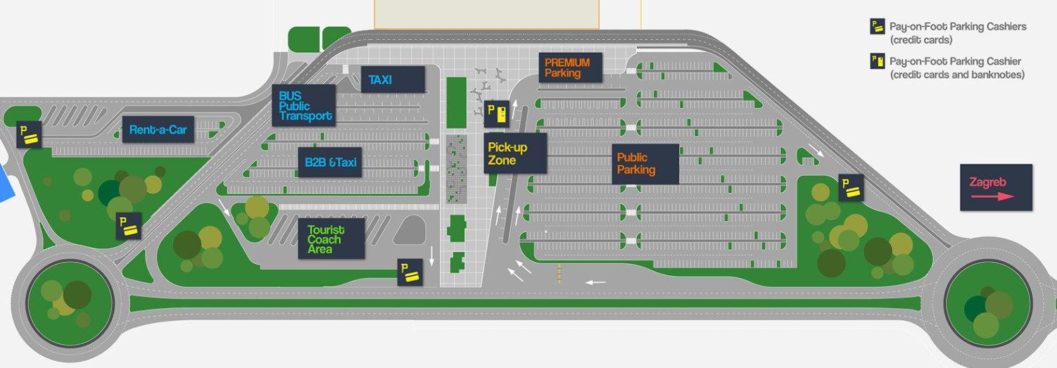 Схема аэропорта Загреба