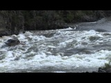 Bohnenkamps Whitewater Customs BWC Grey Twin Boat running rapids