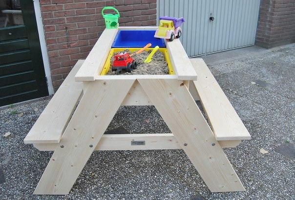 Стол-песочница. #DIY_Идеи