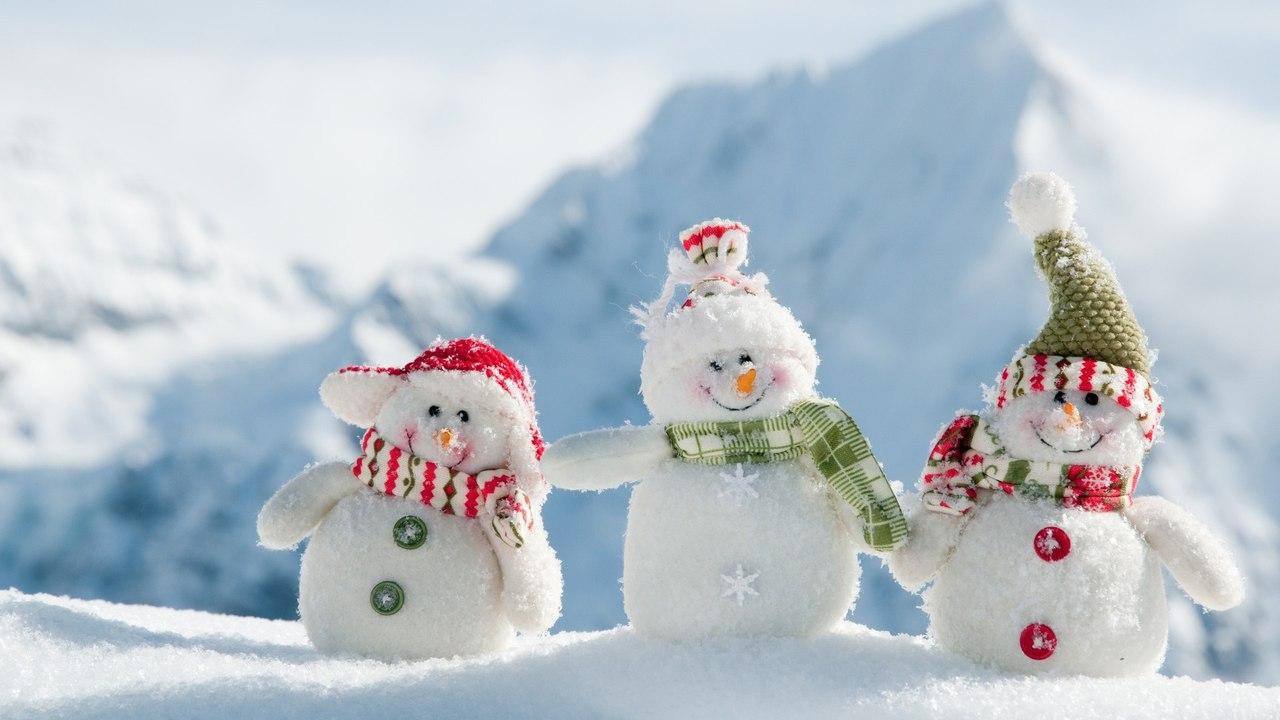 Прикольные снеговики картинки 1