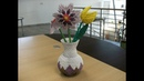 3D origami - round vase - (how to make)