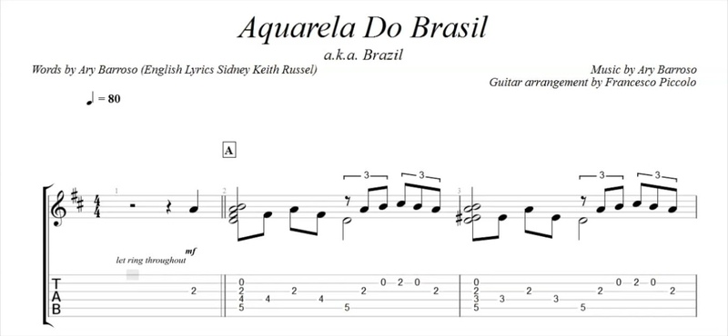 Fingerstyle Guitar - Aquarela do Brasil (From Latin Collection Nr.2)