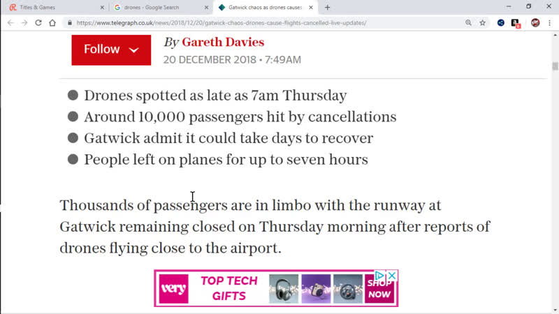 Gatwick Airport Closure Psy-Op? How Do You See Drones At Night?