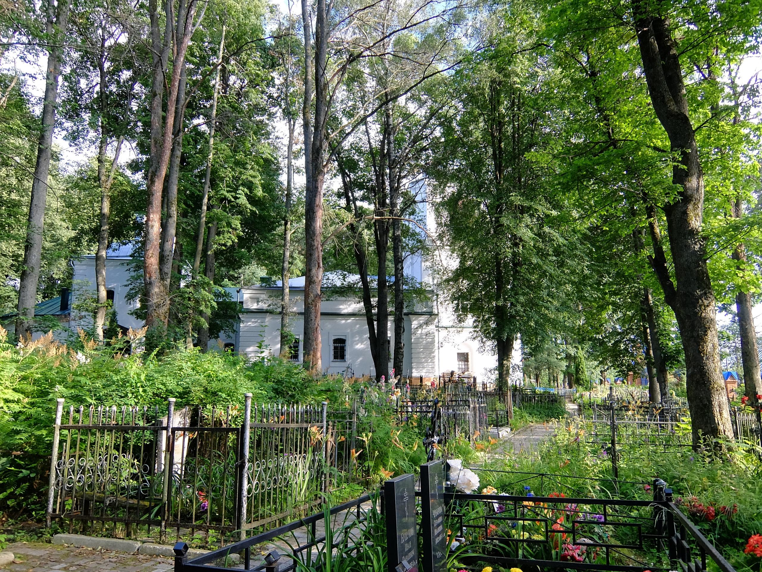 Успенская церковь и кладбище