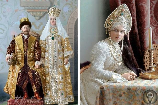 ПОСЛЕДНИЙ БАЛ РОМАНОВЫХ Отретушированные фотографии гостей знаменитого царского бала-маскарада, когда все участники явились во дворец в костюмах допетровской эпохи.Этот бал называют самым