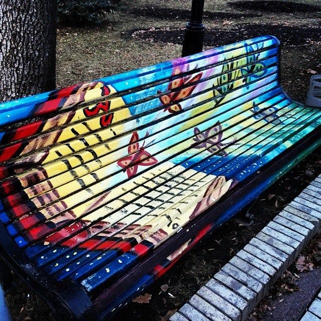 скамейки парк Шевченко Киев фото