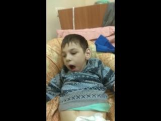 Артёмка в Полтаве в неврологическом отделении.(((