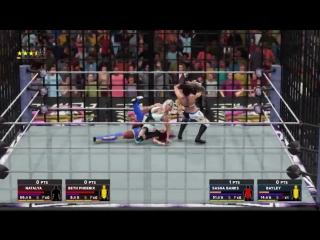 WWE 2K18 Beth Phoenix and Natalya vs Sasha banks and Bayley