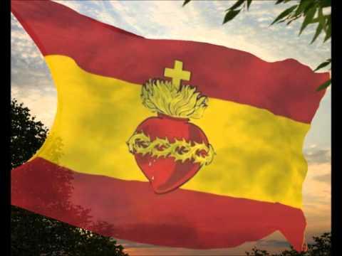 Bandera España Sagrado Corazón