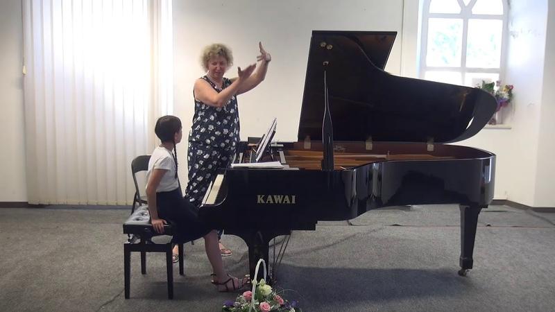 08.07.2018 Mira Marchenkos master-classes. Marija Zderec. Concert Hall, Trogir, Croatia