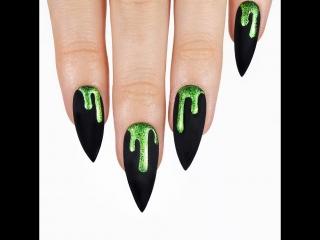 Lime green holo slime over matte black