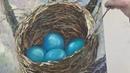 Пишем гнездо скворца мастихином с Татьяной Букреевой