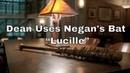 "Supernatural 12x15 Dean Uses Negan's Bat Lucille"""