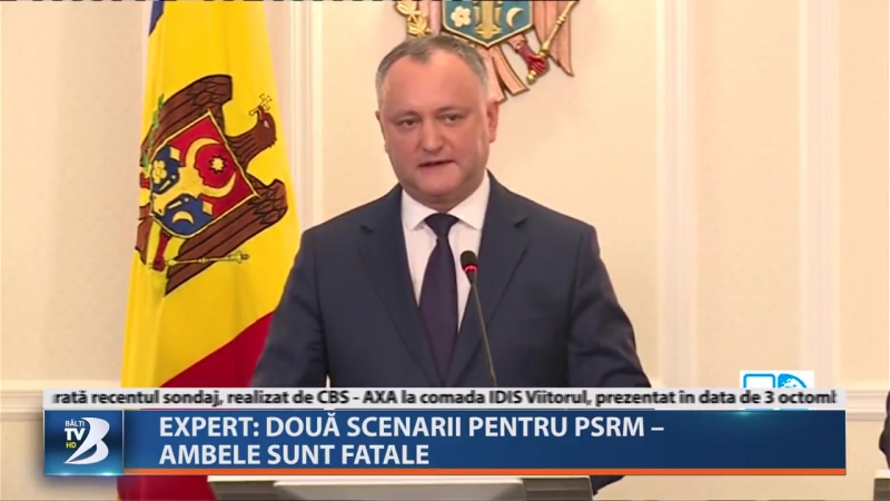 EXPERT: DOUĂ SCENARII PENTRU PSRM – AMBELE SUNT FATALE