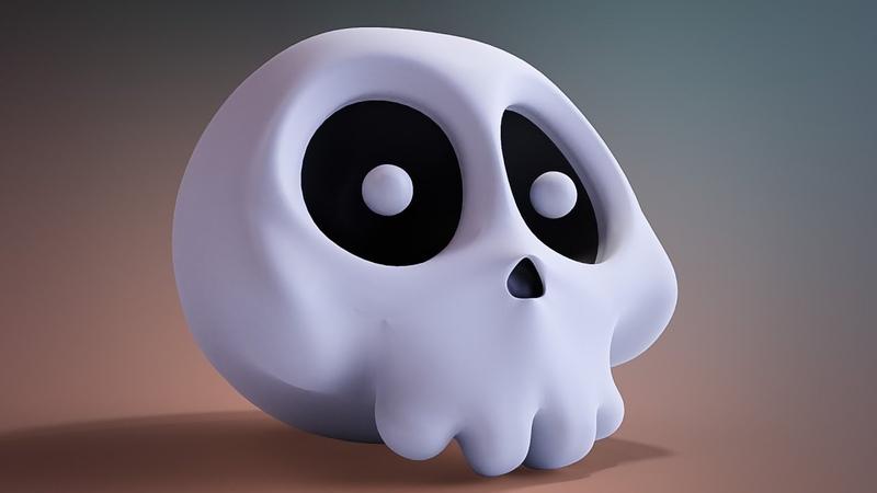 CGC Classic: Creating a Cartoon Skull in Blender