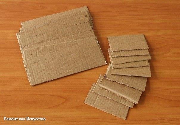 Декоративные кирпичи из картона своими руками