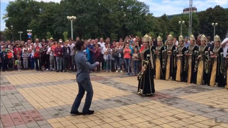 Olimpiyat Şampiyonu, Çerkes Beslan Mudranova Maykopta Muhteşem Karşılama