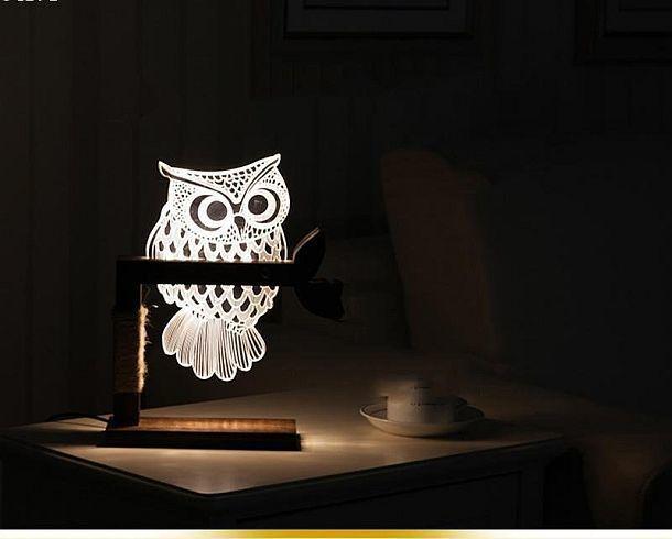 Настольный ночник в форме совы -