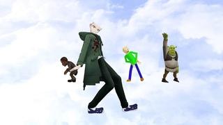 (MMD) Nagito Komaeda x Baldi x Barack Obama x Shrek - Dame Tu Cosita