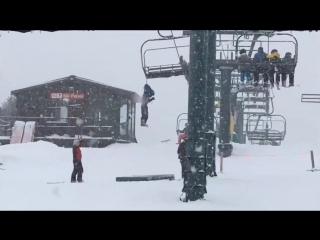 Когда ты дебил и лыжник одновременно