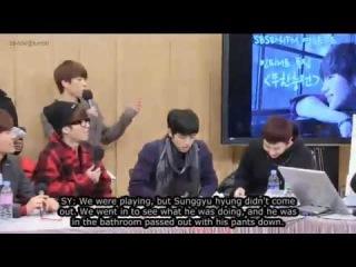 [ENG SUB] 131219 SBS Youngstreet Radio - Sunggyu Fainting Incident Cut
