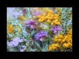 Букет из горьких трав (картина из волокон шерсти, шелка и вискозы)