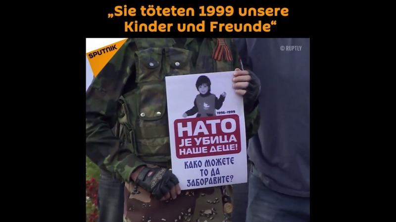 """""""Sie töteten 1999 unsere Kinder, Freunde"""" - Proteste gegen NATO in Serbien"""