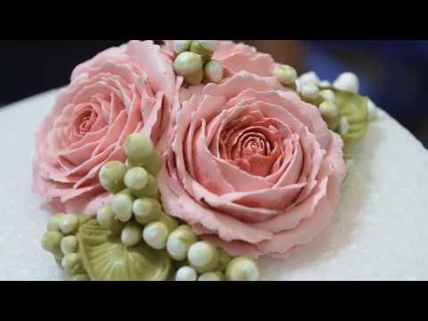 [Học làm bánh kem Online] Bài 1-Bắt hoa hồng cơ bản