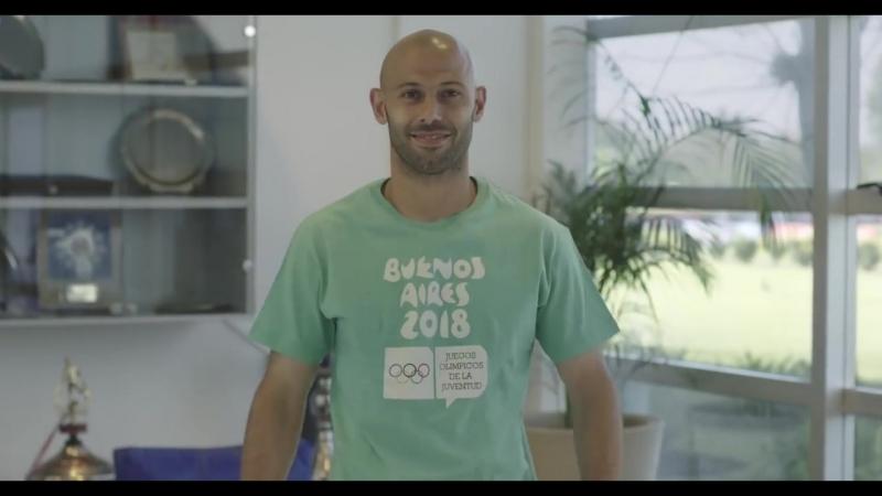 Javier Mascherano - Embajador de los Juegos Olímpicos de la Juventud Buenos Aires 2018