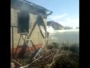 Пожар бревенчатого дома в д Дмитриевка Уфимского района 23 05 2018г