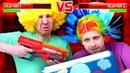 Kindervideo - Lustige Clowns und NERF Blasters - Das Computerspiel